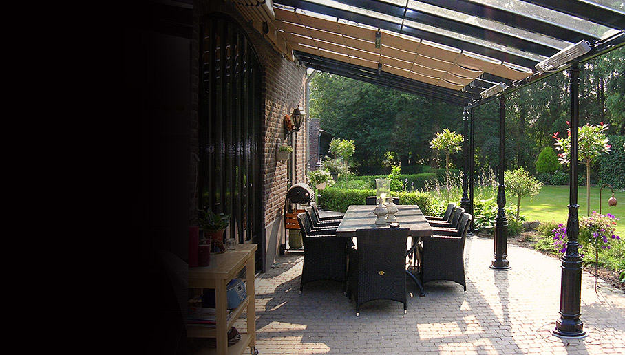 Sunhouse outdoor living classic line terrasoverkapping for Classic house nl